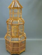 Large Wood Bamboo Asian Bird Cage Cage Aviary Bird House 110 CM