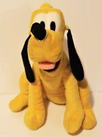 "Disney Store Pluto Dog Stuffed Animal Plush 12"" Soft"