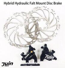 Juin Tech F1 Hybrid Hydraulic Road Disc Brake Set Black - Flat mount   Road   CX