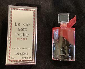 La Vie Est Belle En Rose by Lancome L'EAU DE TOILETTE Travel Mini Size NIB