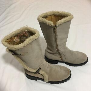 Rampage Women's Zip Up Nubuck Leather Boots | Light Tan | Size 7 1/2 | AU Seller