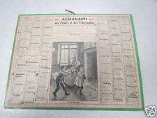 ALMANACH PTT calendrier des postes 1914 le diablotin diable *