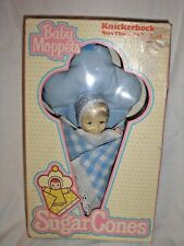Vintage 1981 Knickerbocker Baby Moppets Sugar Cone Doll Blue In Box