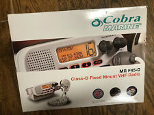 NIB Cobra Marine MR F45-D VHF Radio Boat White Fixed Mount Class D Submersible