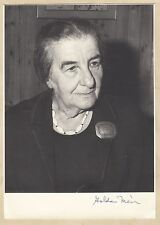Golda Meir (+) - ehem. Ministerpräsidentin Israel - signiertes Foto 13x18cm