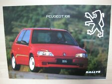 Peugeot 106 Rallye folder brochure Prospekt text Dutch 6 pages 1994