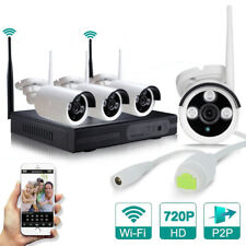 4CH HD 720P 1MP Wireless WIFI CCTV IP Camera Kits - Plug & Play
