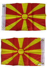 12x18 Macedonia Country 2 Faced 2-ply Wind Resistant Flag 12x18 Inch