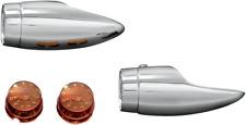 Kuryakyn chrome Mini Bullets turn signals 84-13 Harley Dyna Softail FXST 2503
