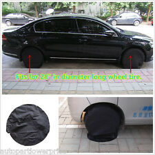 "Set Of 4 Black Wheel Tire Tyre Covers Car/RV/Camper Trailer For 28""Diameter Tyre"