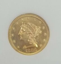 1886 US Gold $2 1/2 Dollar Coin Uncirculated Proof or Proof Like? Uncertified