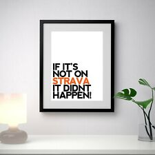 Strava KOM Poster, Funny Quote, Cycling Bike, Wall Art, Poster