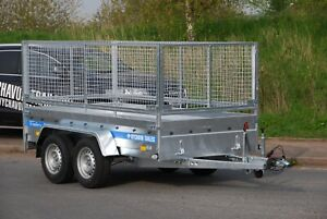 CAR CAGE MESH TRAILER 10X5 FOR SALE TWIN AXLE 1.3T HIGH SIDES TRAILER BRAKED