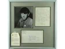 """Three Stooges"" Moe Howard Framed Photo and Letter Lot 148"