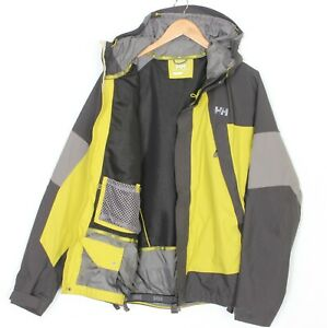 HELLY HANSEN HELLY TECH 10K mm Hooded Ski Snowboarding Jacket Men Size M MJ2102