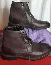 Rockport Men's Classic Break Cap Toe Zip Boot Size 11 Wide Chocolate Brown