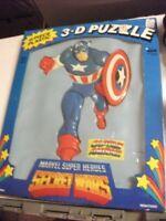 Marvel Secret Wars Captain America 1985 plastic  puzzle new in box