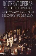 Reference Bk.: 100 Great Operas and Their Stories : Act-By-Act Synopses by...