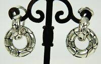 JOHN HARDY Kali 925 Sterling Silver Small Door Knocker Double Hoop Earrings