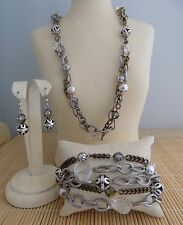 "Brighton ""Metal Play"" Necklace Bracelet & Earrings - 3 piece set- NWT"