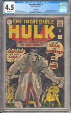 Incredible Hulk (1962) #1-6 ~ CGC 4.5 5.5 6.0 ~ Nice Run! ~ Michalke Collection