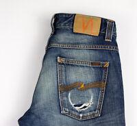 Nudie Jeans Herren Gerades Bein Slim Jeans Größe W30 L32 AMZ1302