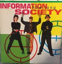 "INFORMATION SOCIETY How Long 12"" DJ Single VG+ Vinyl 1990 Synth Pop"