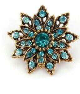 Brooch Small Turquoise Vintage Style Flower Brooch Fashion Brooch Wedding Brooch