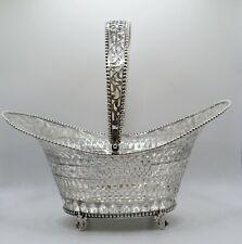 More details for antique dutch solid silver swing basket 377gr