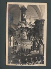 Trauenkirchen Austria,real photo postcard, c 1913, baroque pulpit   st 66