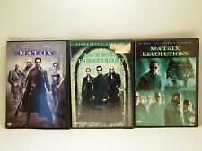 The Matrix Trilogy (Dvd Lot) 3 Movies Complete Series Keanu Reeves