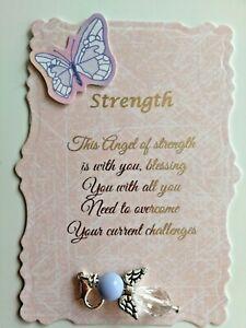 Beautiful Strength Angel Charm with Verse, Keepsake, Gift,