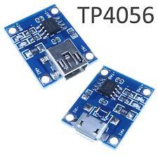 2-10x TP4056 5V 1A Lithium Battery Charger Module USB Mini/Micro-B LiPo / Li-Ion