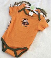 New, Baby Gear Nwt Boys 3-pk Bodysuits Tee Shirts One-piece Size 3-6 Month