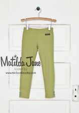 Matilda Jane MISTLETOE RIDER PANTS 12 Green Stretch Leggings Pants NWT