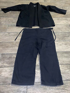 Century Martial Art Youth Karate Uniform size M 1  Black 2 Piece Pants Jacket