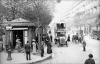 OLD PHOTO FRANCE Paris Bus Saint Germain Boulevard Around 1905