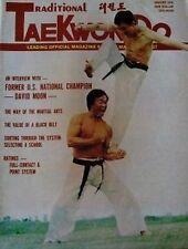1976 TRADITIONAL TAE KWON DO DAVID MOON BLACK BELT KARATE KUNG FU MARTIAL ART