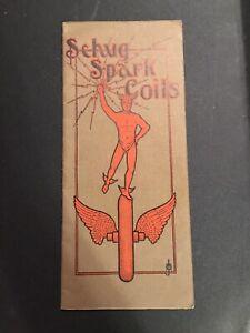 Early 1900s Schug Spark Coils Catalog Auto Battery Ford Detroit