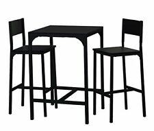 Demeyere - Kool Set de 1 table 2 chaises Métal Noir