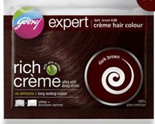 HERBAL HAIR/DYE COLOURANT BY GODREJ DARK BROWN  FREE SHAMPOO UNISEX HALAL