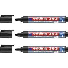 3 X Edding 363 Whiteboard Markers Pens Chisel Tip Black Or Blue Premium Quality