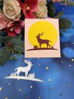 Stanzschablone Elch Bock Tier Hochzeit Weihnachten Geburtstag Album Karte Deko