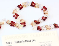 Two Holes Many Colors /& Sizes Crystal Beads Genuine SWAROVSKI 5180 Square