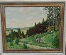 "K. Korf, 1948 ""Colline Paesaggio"" ölmalfaser, incorniciato, (248/12053)"