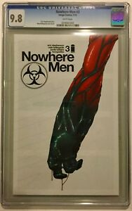NOWHERE MEN # 3 CGC 9.8. HOT SERIES FROM IMAGE!