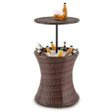 Meuble De Jardin Piscine Multifonction Table Hauteur Réglable Bac à Glaçons  60l