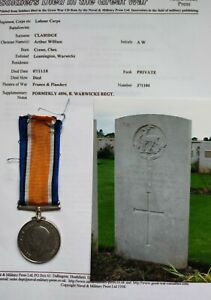WW1 medal casualty