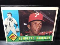 1960 Topps Baseball Card Humberto Robinson Excellent see photo Phillies