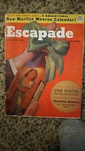 ESCAPADE Magazine DEC. 1956   MARILYN MONROE calendar